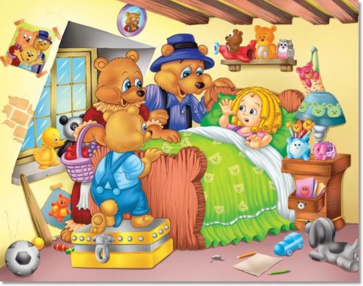 Goldilocks and the three bears – Zlatokosa i tri medvjeda