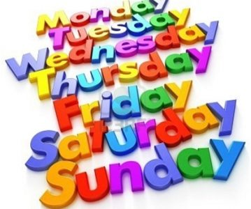 Days of the Week – Dani u sedmici