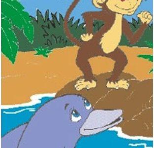 Majmun i delfin