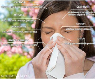 Top 7 eteričnih ulja protiv alergije