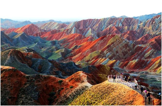 Zhangye Danxia – šarene stjenovite formacije