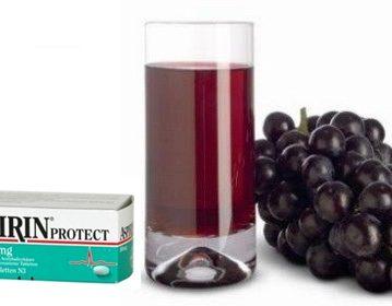 Aspirin i sok od grožđa