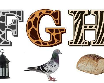 Učimo slova – F, G, H