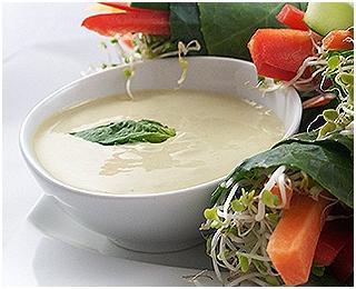 Preljev za salatu od tahinija i đumbira
