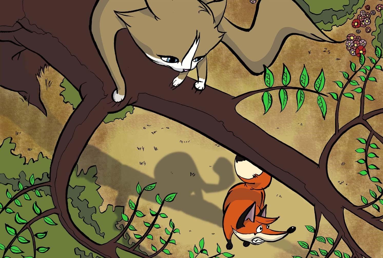 Mačka i uobražena lisica