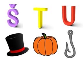Učimo slova – Š, T, U