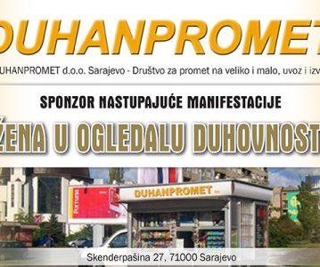 "DUHANPROMET d.o.o. – sponzor manifestacije ""Žena u ogledalu duhovnosti"""