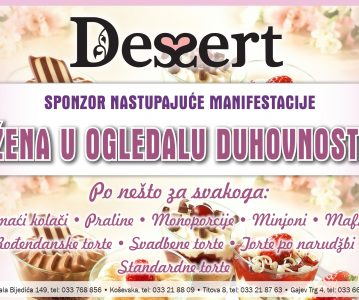 "Slastičarna DESSERT – sponzor manifestacije ""Žena u ogledalu duhovnosti"""