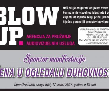 "BLOW UP – sponzor manifestacije ""Žena u ogledalu duhovnosti"""