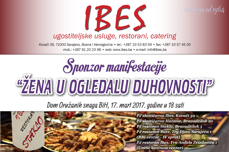 "IBES d.o.o. – sponzor manifestacije ""Žena u ogledalu duhovnosti"""