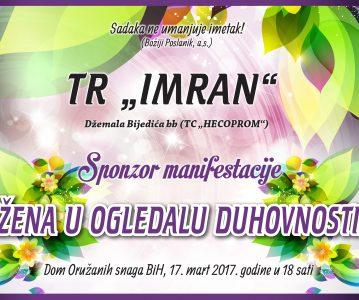 "TR ""Imran"" – sponzor manifestacije ""Žena u ogledalu duhovnosti"""