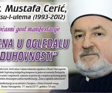 """Dr. Mustafa Cerić – počasni gost manifestacije """"Žena u ogledalu duhovnosti"""""""