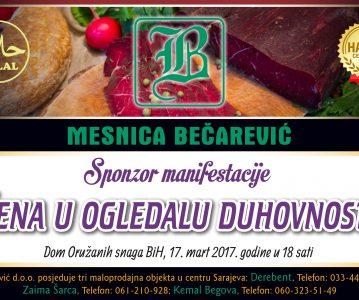 "Mesnica BEČAREVIĆ – sponzor manifestacije ""Žena u ogledalu duhovnosti"""