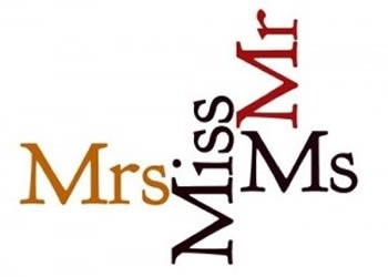 Mr, Mrs, Miss and Ms