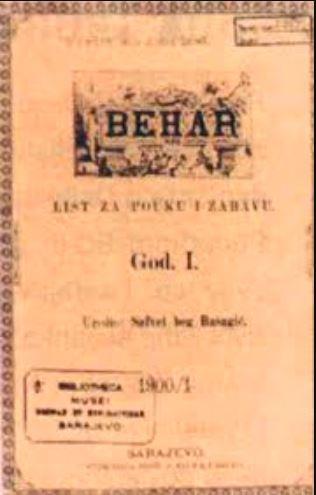 """Listovi """"Bošnjak"""", """"Behar"""", """"Gajret"""" i """"Biser"""""""
